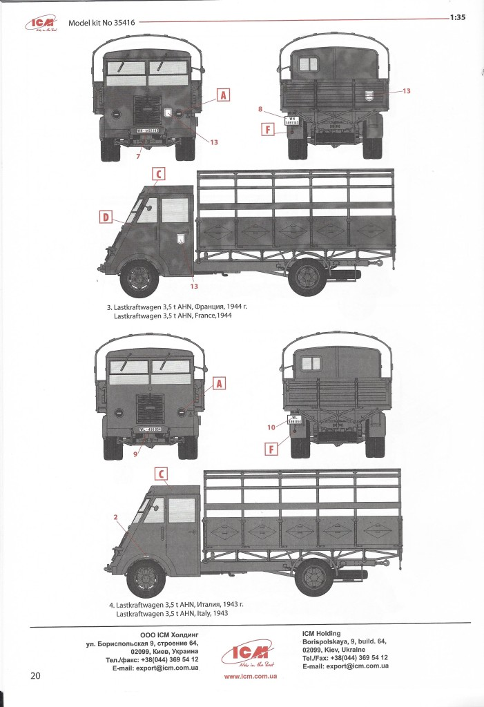 scan1586 Lastkraftwagen 3.5 t AHN with German Drivers 1:35 ICM (#35418 )