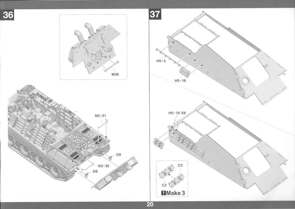 21-1 German Tank Destroyer Sd.Kfz. 173 Jagdpanther G2 1:35 Takom (#2118)