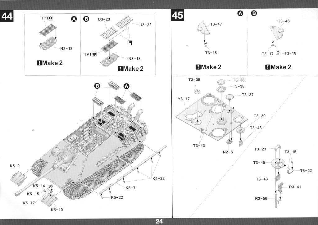 25 German Tank Destroyer Sd.Kfz. 173 Jagdpanther G2 1:35 Takom (#2118)