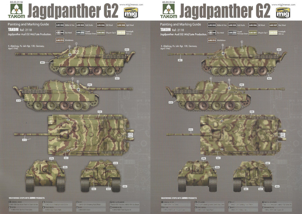 29 German Tank Destroyer Sd.Kfz. 173 Jagdpanther G2 1:35 Takom (#2118)