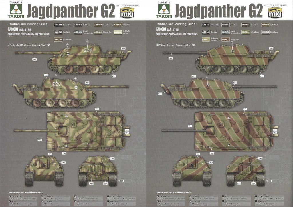 30 German Tank Destroyer Sd.Kfz. 173 Jagdpanther G2 1:35 Takom (#2118)