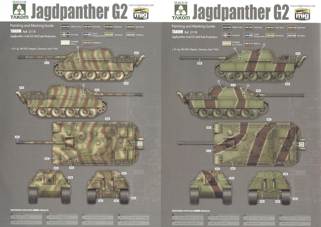 31 German Tank Destroyer Sd.Kfz. 173 Jagdpanther G2 1:35 Takom (#2118)