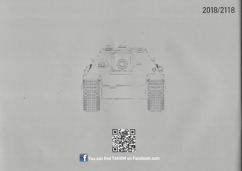 34 German Tank Destroyer Sd.Kfz. 173 Jagdpanther G2 1:35 Takom (#2118)
