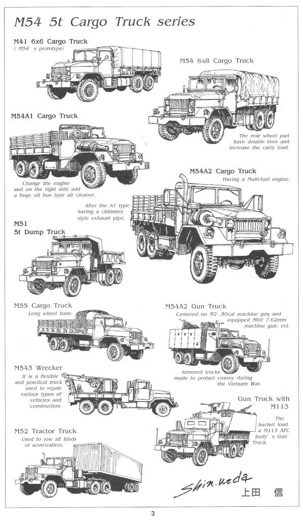 Anleitung03-1 M54A2 5-Ton 6x6 Cargo Truck 1:35 AFV Club (#AF35300)