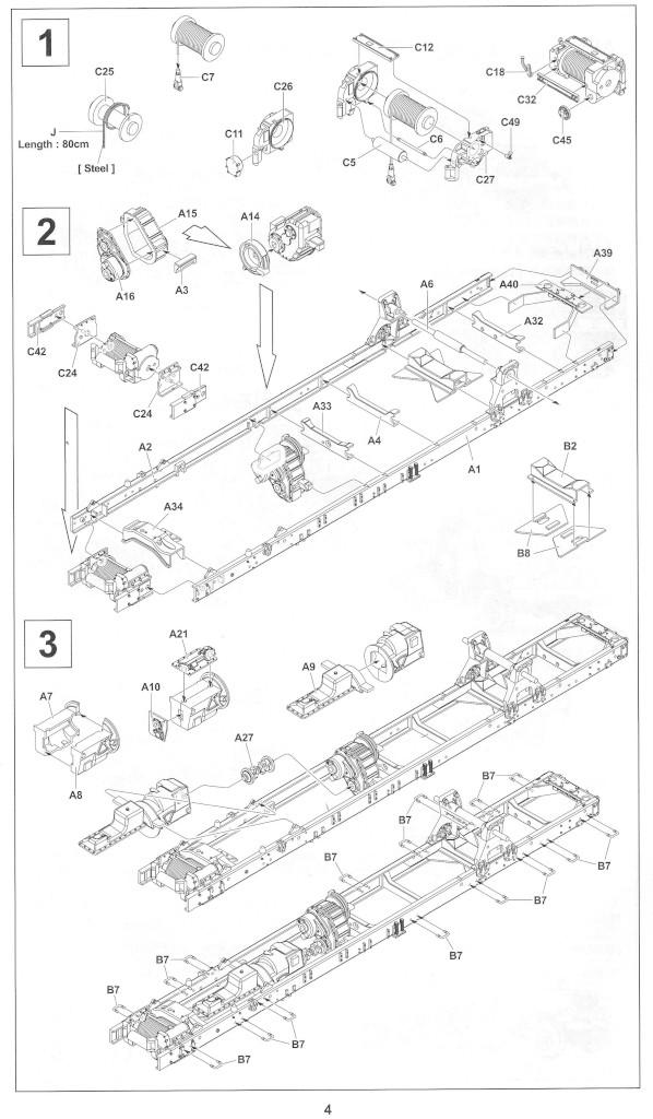 Anleitung04-1 M54A2 5-Ton 6x6 Cargo Truck 1:35 AFV Club (#AF35300)