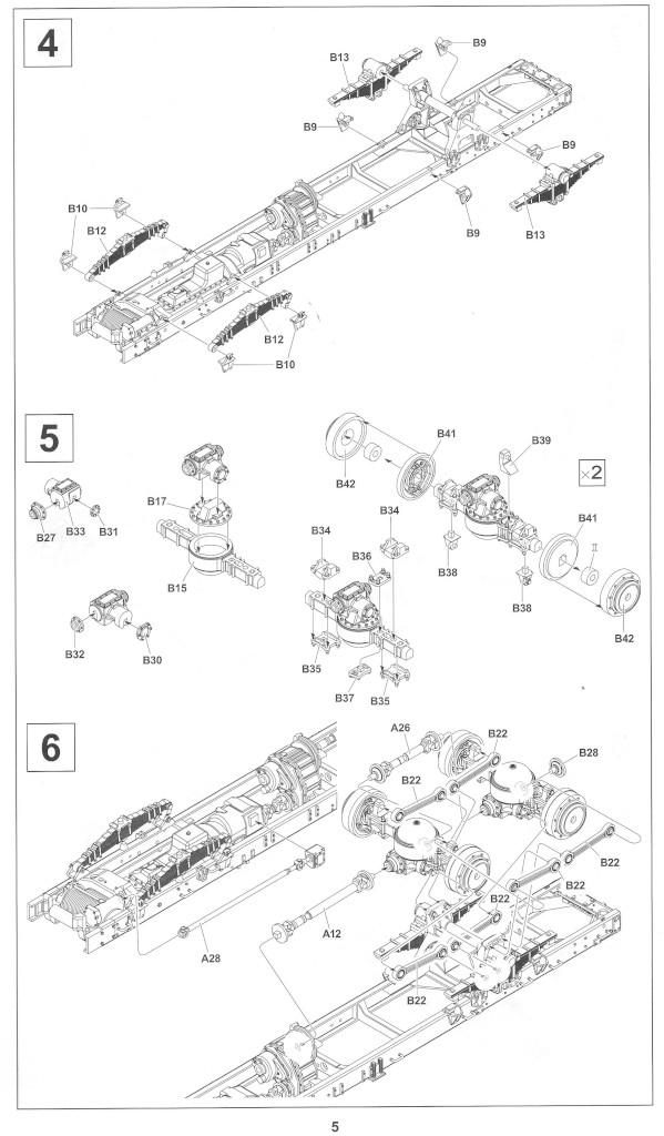 Anleitung05-1 M54A2 5-Ton 6x6 Cargo Truck 1:35 AFV Club (#AF35300)