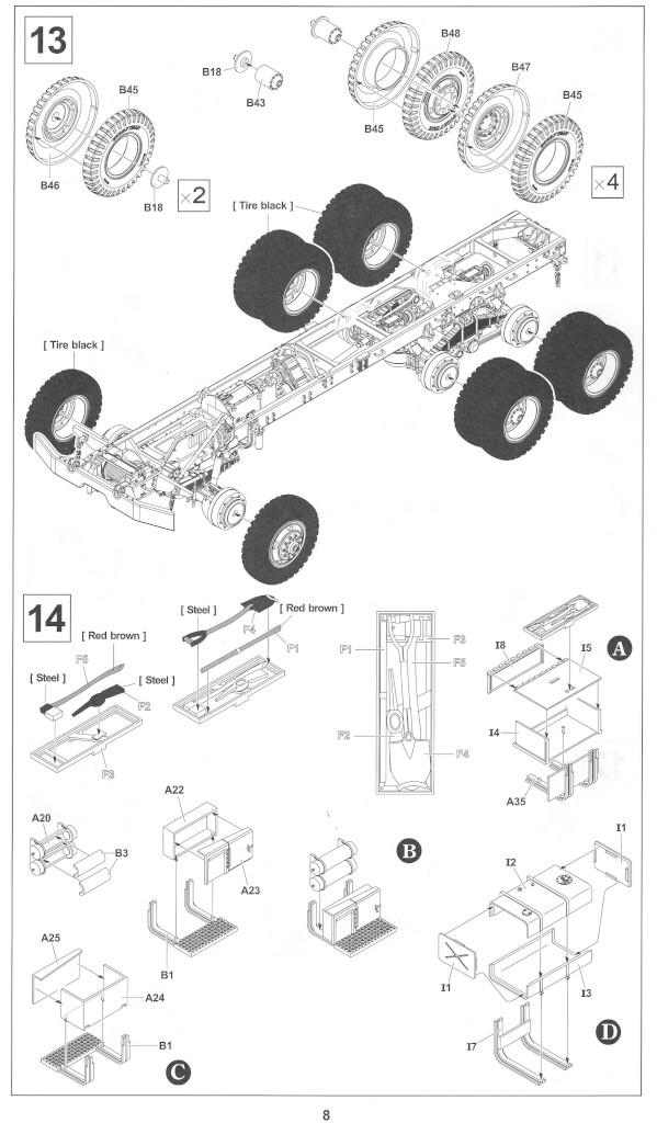 Anleitung08-1 M54A2 5-Ton 6x6 Cargo Truck 1:35 AFV Club (#AF35300)