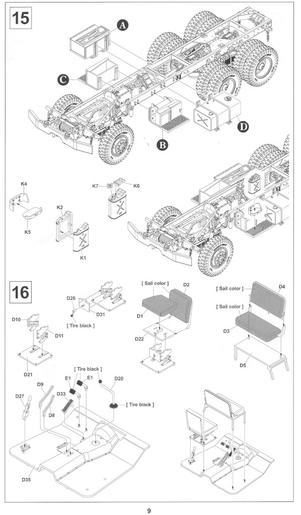 Anleitung09-1 M54A2 5-Ton 6x6 Cargo Truck 1:35 AFV Club (#AF35300)