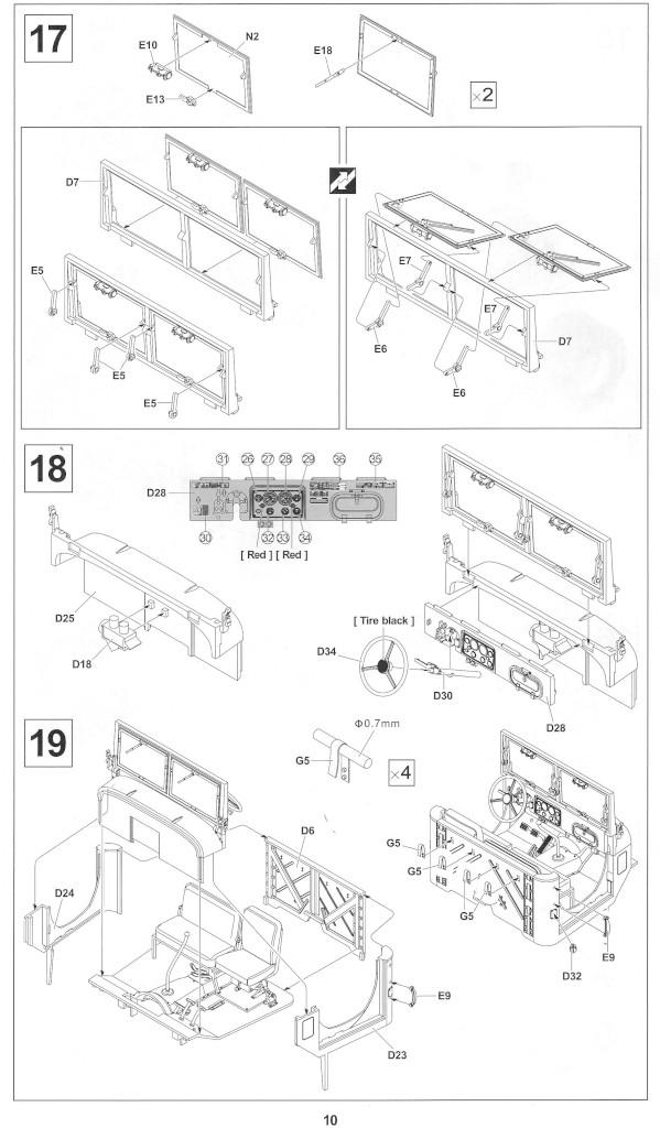 Anleitung10-1 M54A2 5-Ton 6x6 Cargo Truck 1:35 AFV Club (#AF35300)