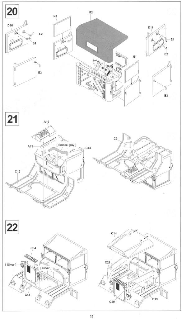 Anleitung11-1 M54A2 5-Ton 6x6 Cargo Truck 1:35 AFV Club (#AF35300)