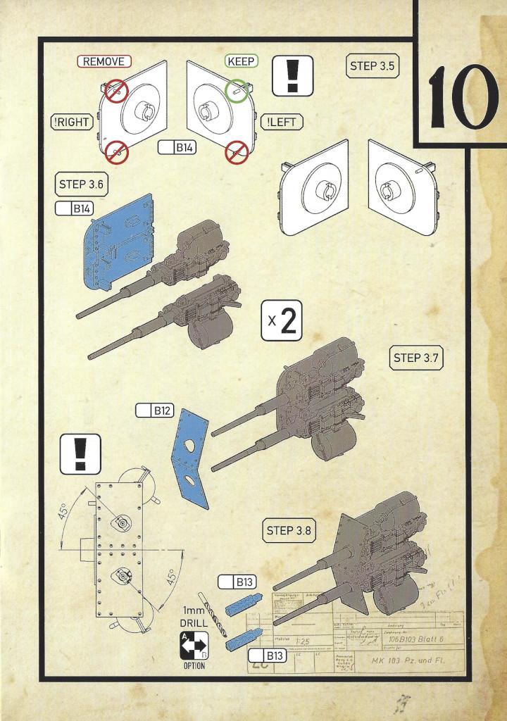 Anleitung11-3 3cm Flakvierling 103/38 1:35 Das Werk (#DW35004)