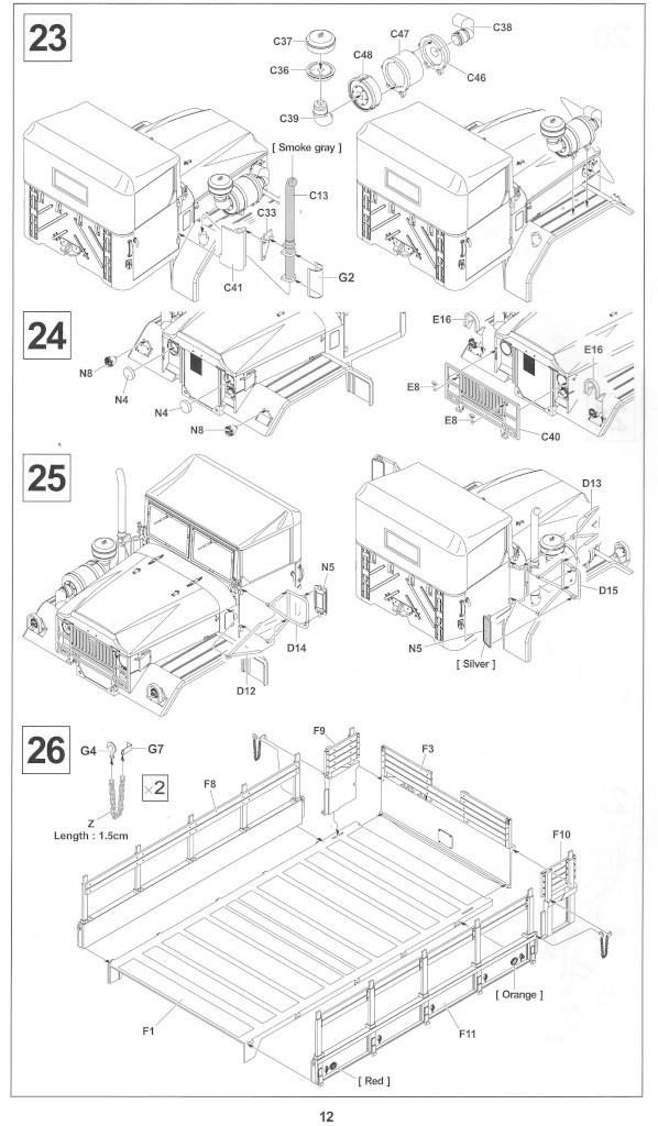 Anleitung12-1 M54A2 5-Ton 6x6 Cargo Truck 1:35 AFV Club (#AF35300)