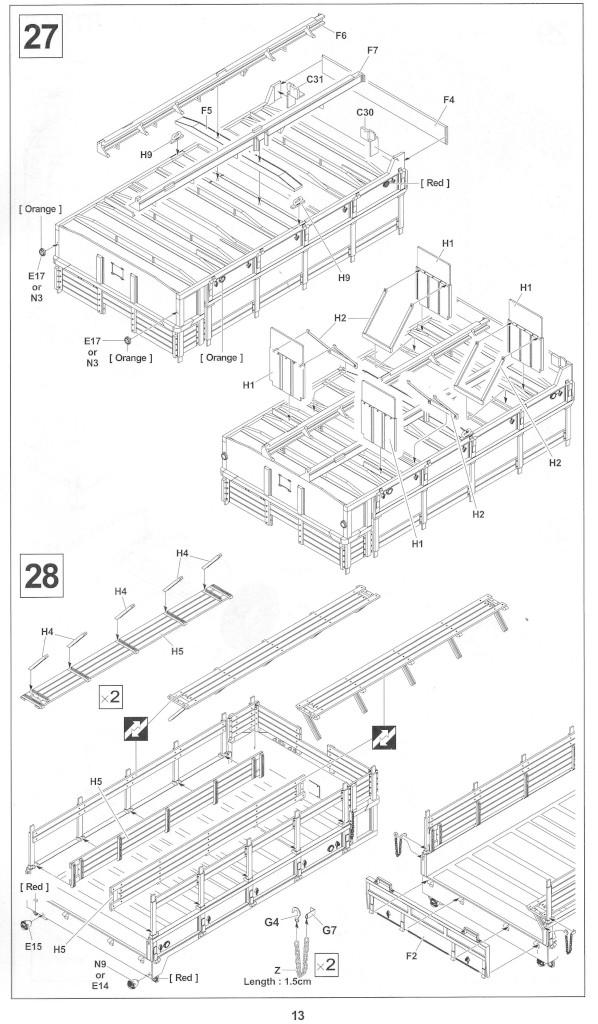 Anleitung13-1 M54A2 5-Ton 6x6 Cargo Truck 1:35 AFV Club (#AF35300)