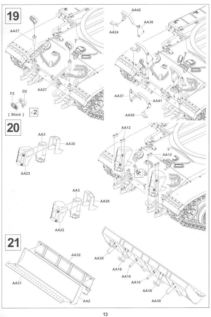 Anleitung13-2 M728 Combat Engineer Vehicle 1:35 AFV Club (#35254)