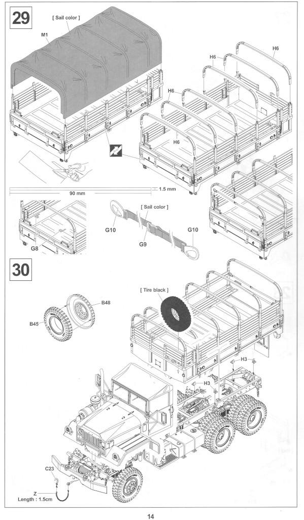 Anleitung14-1 M54A2 5-Ton 6x6 Cargo Truck 1:35 AFV Club (#AF35300)