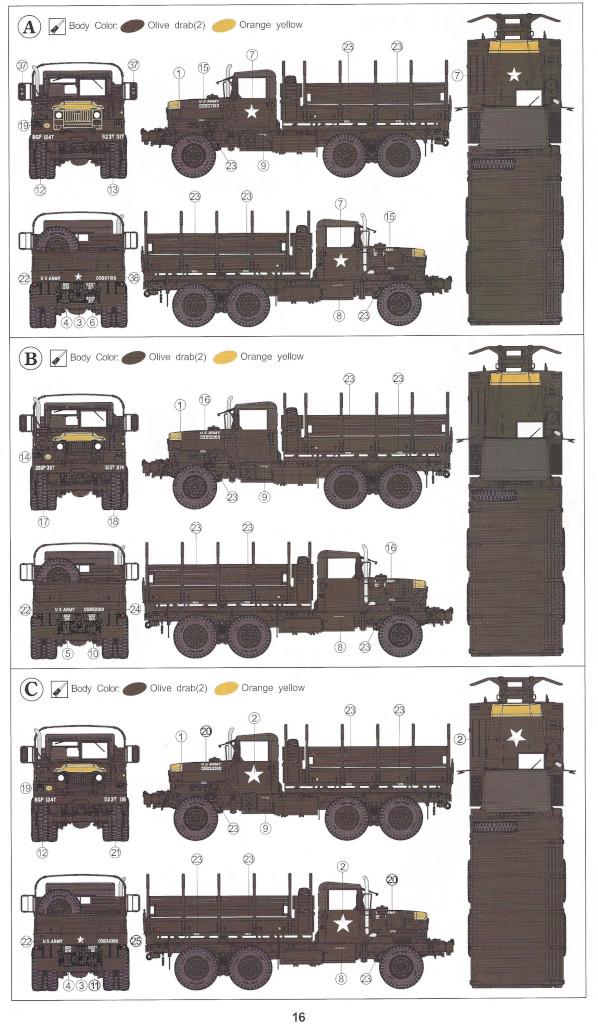Anleitung16-1 M54A2 5-Ton 6x6 Cargo Truck 1:35 AFV Club (#AF35300)