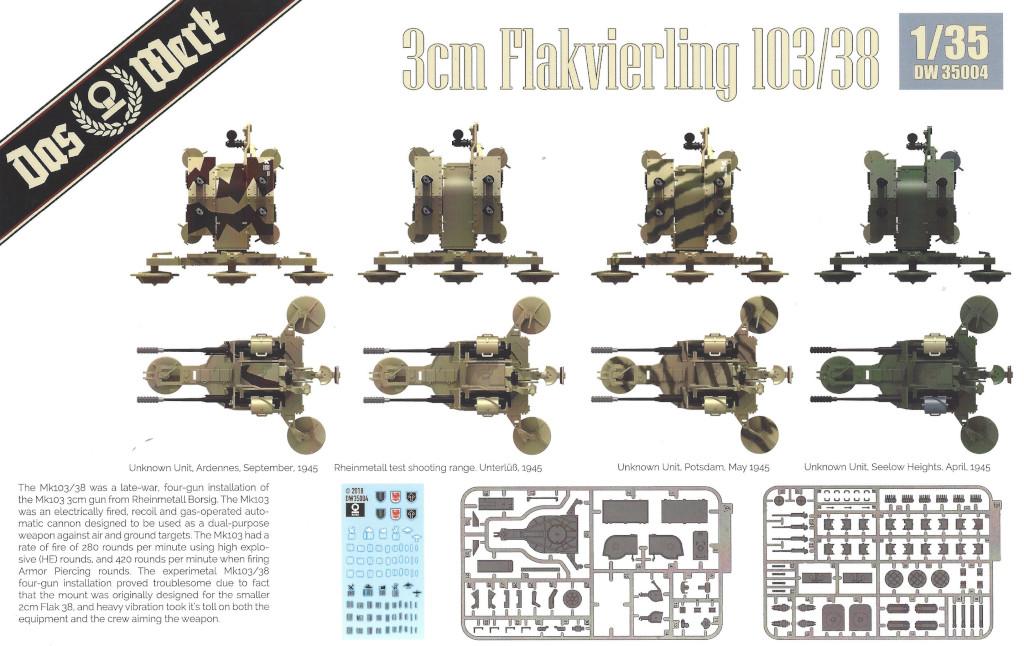 Box2-1 3cm Flakvierling 103/38 1:35 Das Werk (#DW35004)