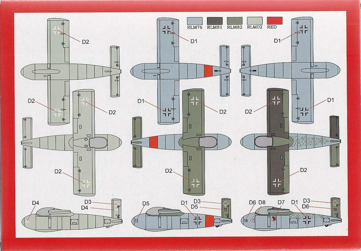 Brengun-48004-Messerschmitt-Me-P-1103-2 Messerschmitt Me P.1103 in 1:48 von Brengun # 48004