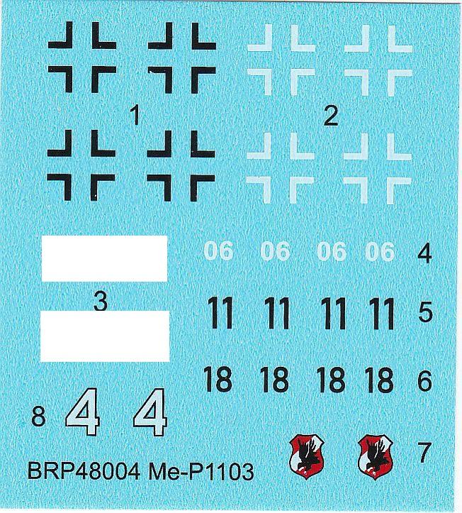 Brengun-48004-Messerschmitt-Me-P-1103-7 Messerschmitt Me P.1103 in 1:48 von Brengun # 48004