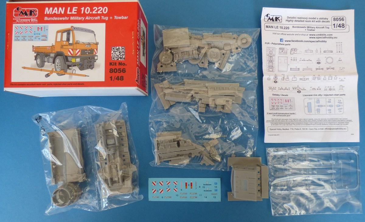 CMK-8056-MAN-LE-10-2 MAN LE 10.220 Flugzeugschlepper in 1:48 von CMK #8056