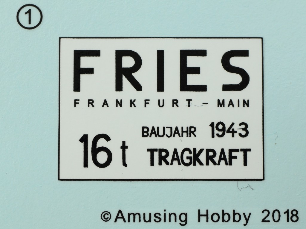 Decal Fries Kran 16t Strabokran (1942) 1:35 Amusing Hobby (#35B003)