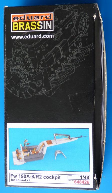 Eduard-648426-FW-190-A-8-cockpit-1 Brassin Cockpit-Set für Fw 190 A-8/R2 1:48 von Eduard # 648426