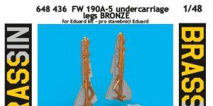 FW 190 A-5 Undercarriage legs BRONZE von Eduard # 648436