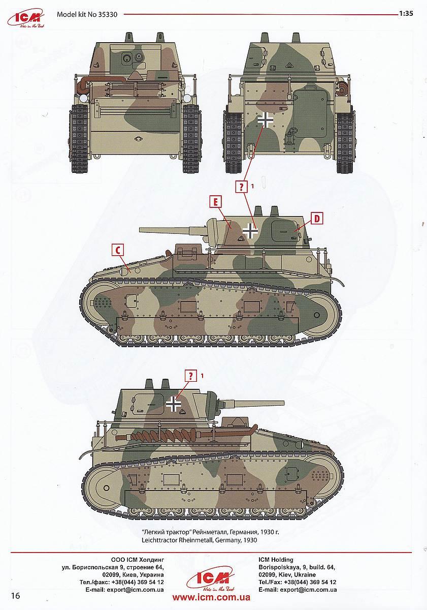 ICM-35330-Leichttraktor-Rheinmetall-1930-31 Leichttraktor Rheinmetall 1930 in 1:35 von ICM # 35330