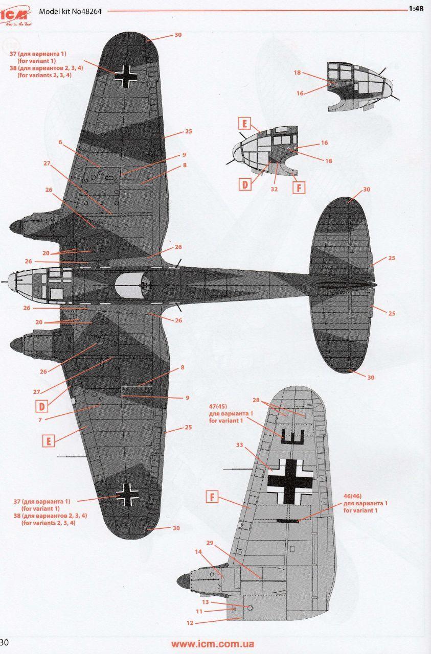 ICM-48264-Heinkel-He-111-H-20-68 Heinkel 111 H-20 in 1:48 von ICM #48264
