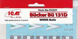 Decals für die Bücker Bü 131D von ICM D32001