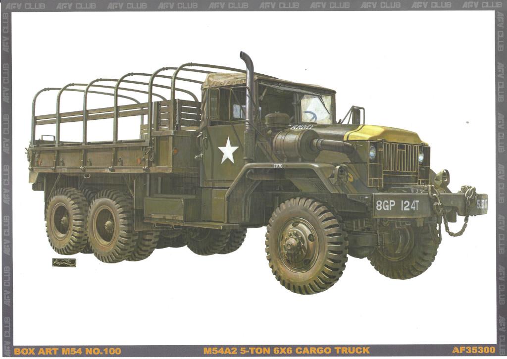 Kunstdruck-1 M54A2 5-Ton 6x6 Cargo Truck 1:35 AFV Club (#AF35300)