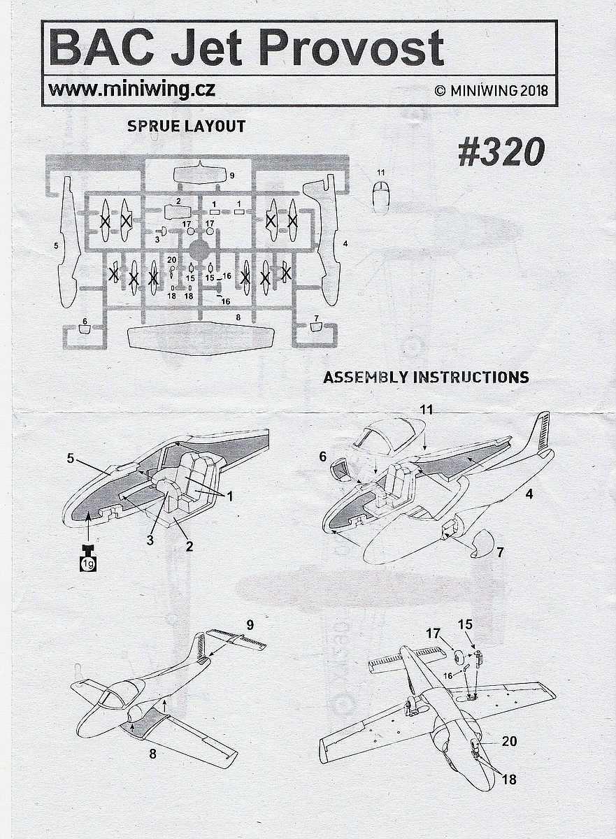 MiniWings-320-BAC-Jet-Provost-T-13 BAC Jet Provost T.5 in 1:144 von MiniWings # 320