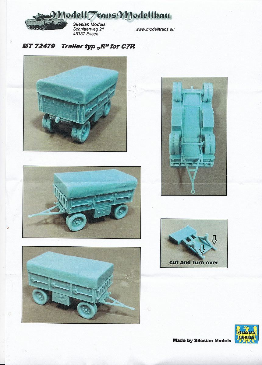 ModellTrans-Mt-72479-Ammunition-Trailer-for-C7P-1 Ammunition trailer for C7P in 1:72 von ModellTrans MT 72479