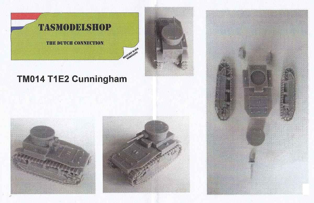 TASModels-TM-014-T1E2-Cunningham-2 US Panzer Cunningham T1E2 in 1:72 TASModels TM 014