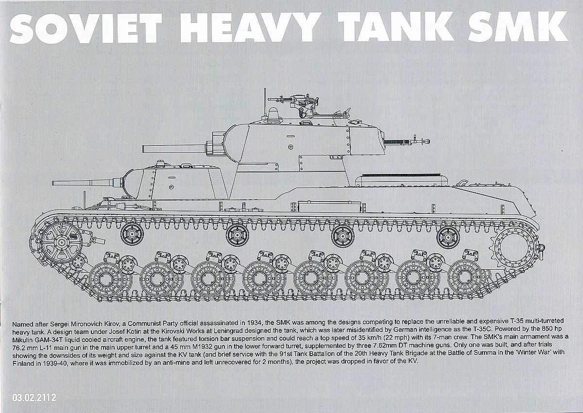 Takomp-2112-Bauanleitung-Deckblatt Soviet Heavy Tank SMK in 1:35 von TAKOM # 2112