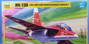 Russian Aerobatic Aircraft Yak-130 in 1:72 von Zvezda # 7316