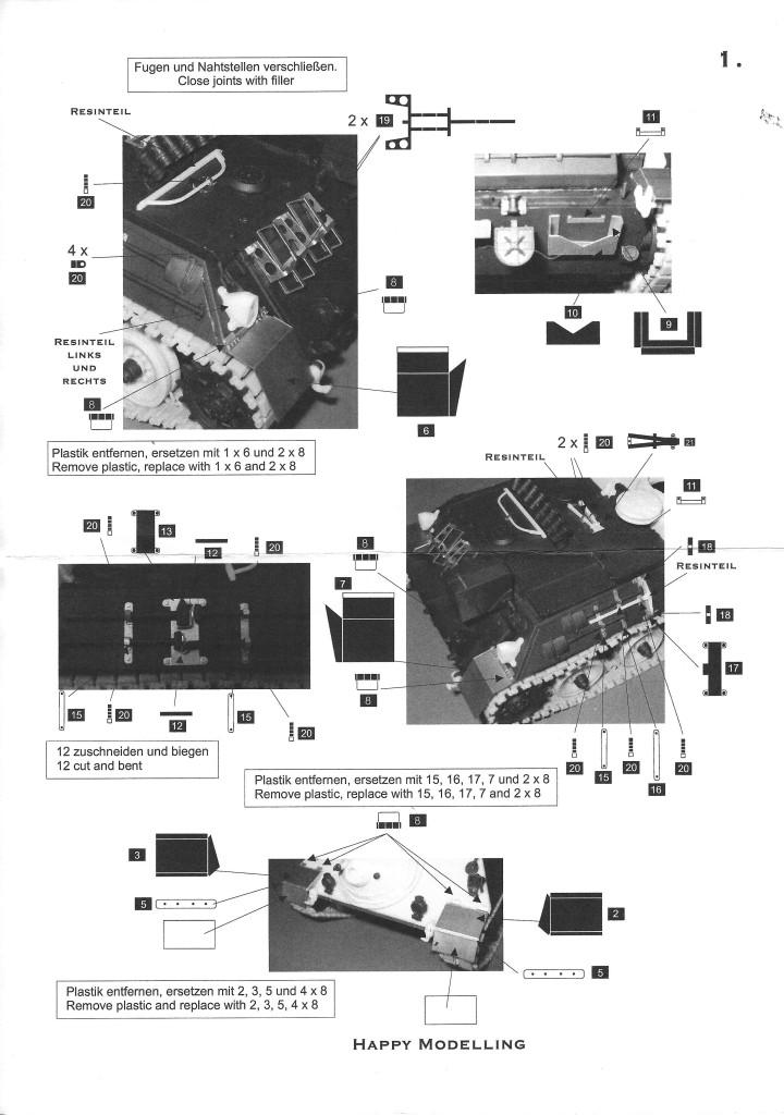 scan1743 Jagdpanzer Kanone Photoätzteile & Werkzeug Perfect Scale 1:35 (#Pe001)