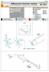 Eduard-48981-Albacore-Bomb-Racks1-207x300 Eduard 48981 Albacore Bomb Racks1