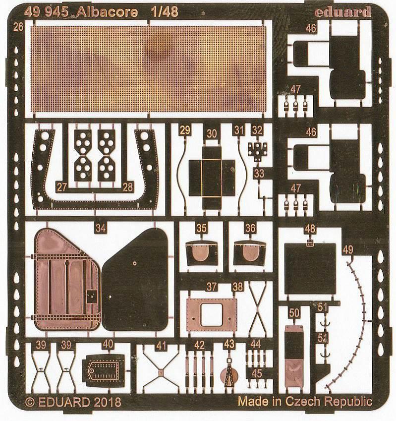 Eduard-49945-Albacore-3 Detailsets für die Fairey Albacore im Maßstab 1:48 von Eduard