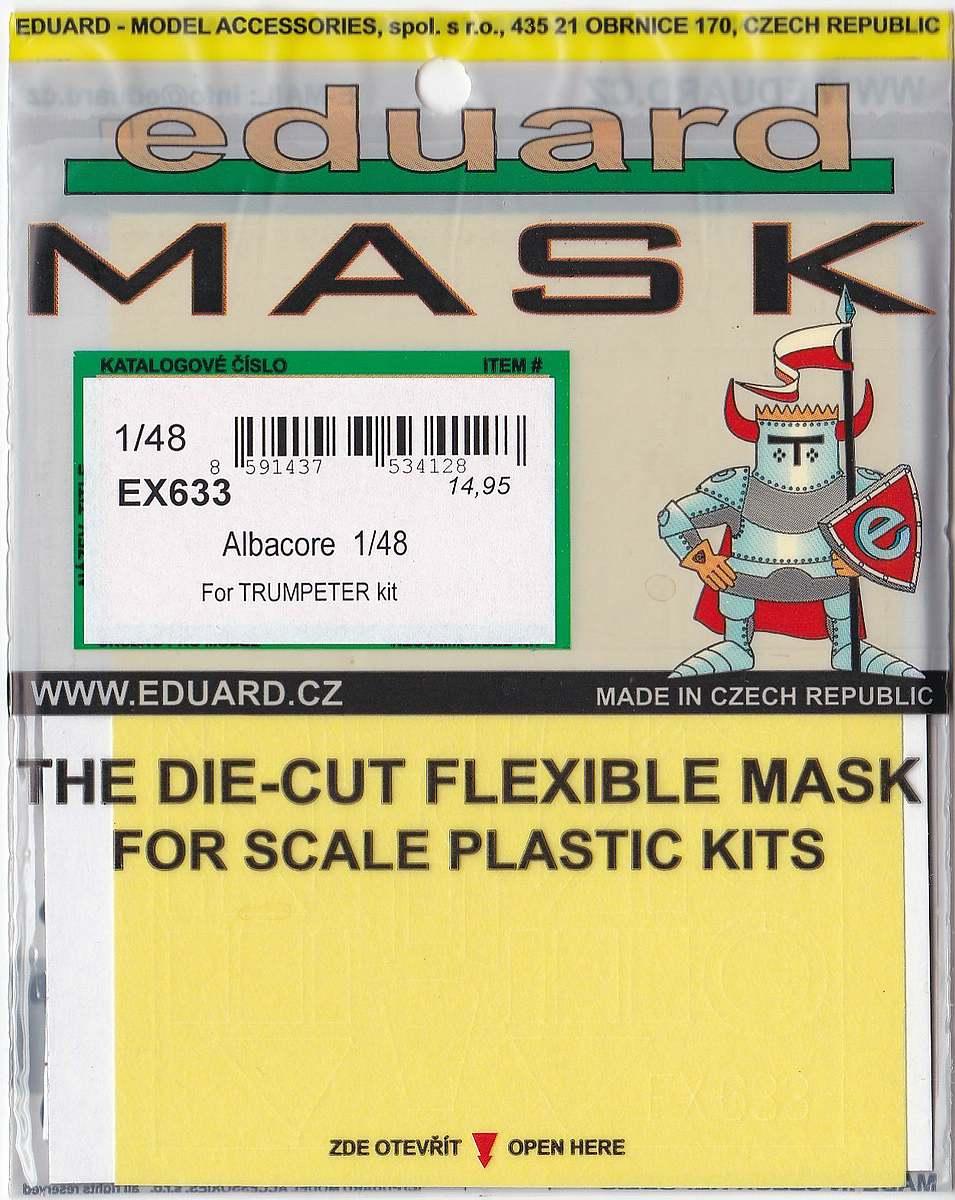 Eduard-EX-633-Albacore-Masken-3 Detailsets für die Fairey Albacore im Maßstab 1:48 von Eduard
