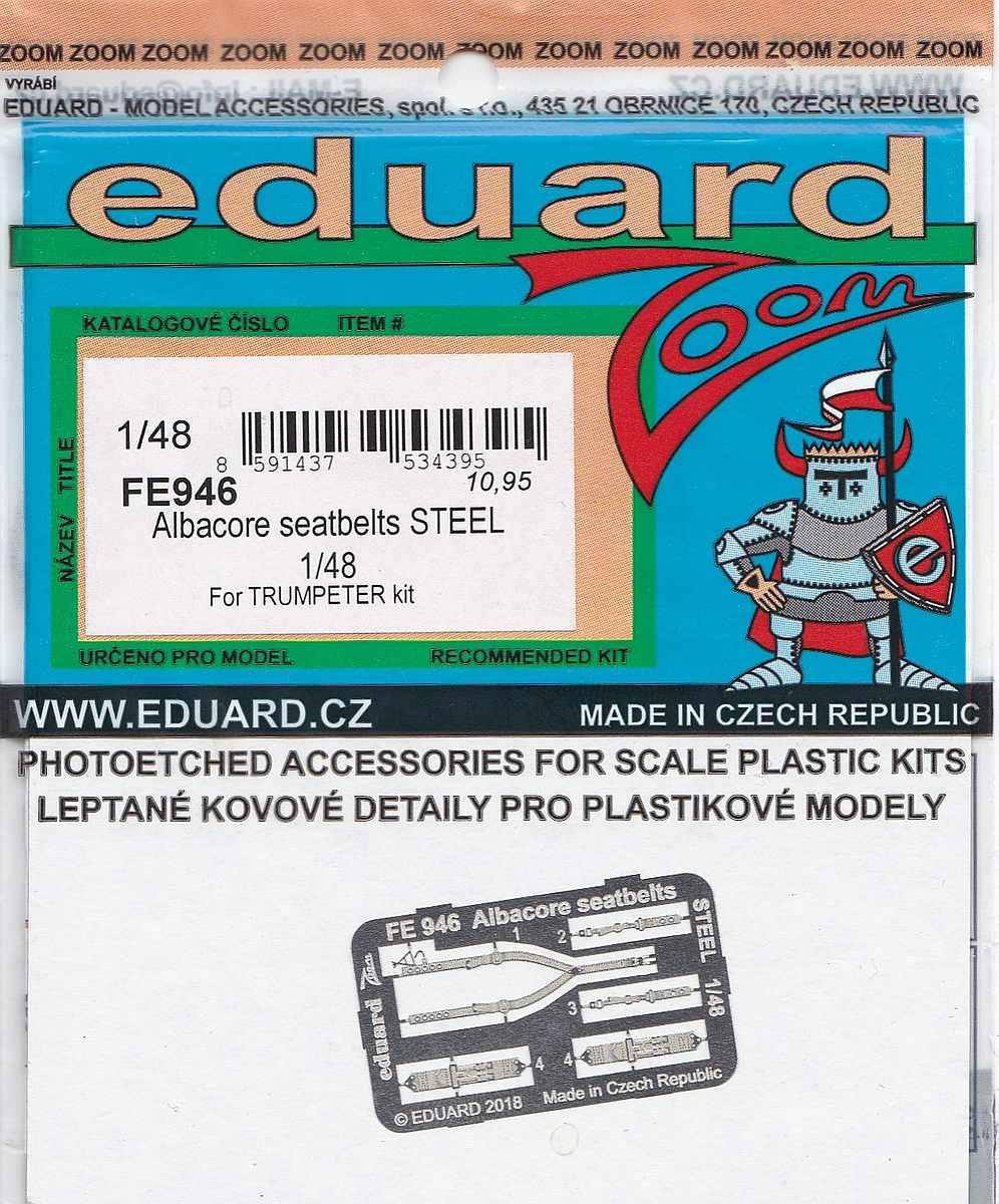 Eduard-FE-946-Albacore-seatbelts-STEEL-1 Detailsets für die Fairey Albacore im Maßstab 1:48 von Eduard