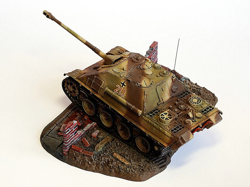 Jagdpanther-Revell-Matchbox-Jürgen-Crepin-8 Kit-Archäologie: Jagdpanther von Matchbox/Revell in 1:76 gebaut