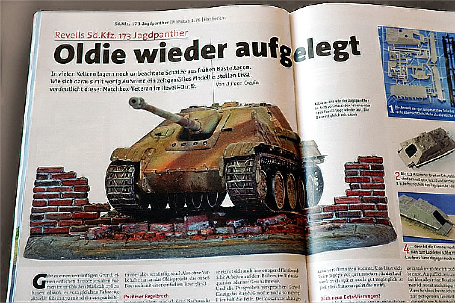 Jagdpanther-Revell-Matchbox-Jürgen-Crepin-9 Kit-Archäologie: Jagdpanther von Matchbox/Revell in 1:76 gebaut