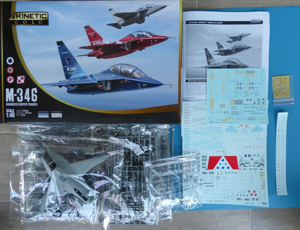 Kinetic-48063-M-346-Trainer-3 Alenia-Aermacchi M-346 in 1:48 Kinetic Gold 48063