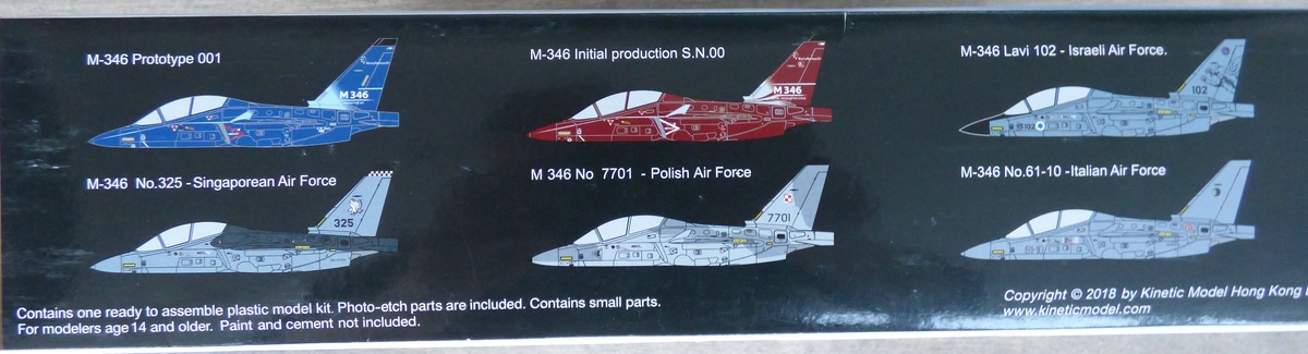 Kinetic-48063-M-346-Trainer-42 Alenia-Aermacchi M-346 in 1:48 Kinetic Gold 48063