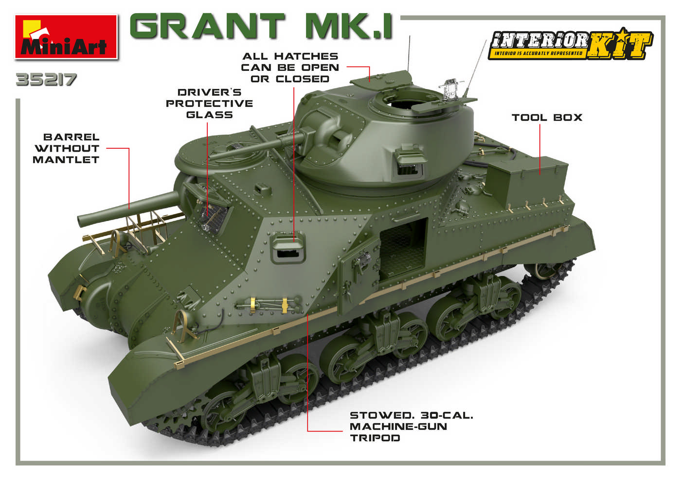 MiniArt-35217-M3-Lee-Grant-Preview_art-4 M3 Grant Mk. I in 1:35 von MiniArt 35217