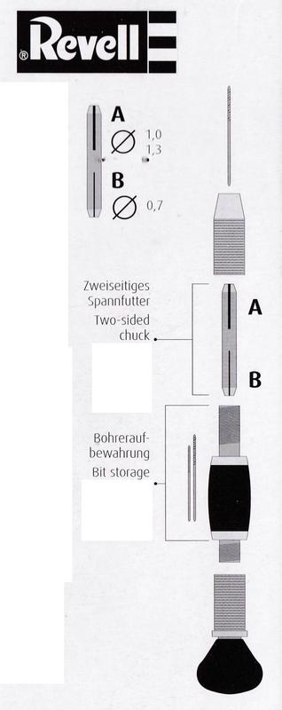Revell-39064-Handbohrer-Anleitung aktuelles Werkzeug von Revell - heute: Der Handbohrer