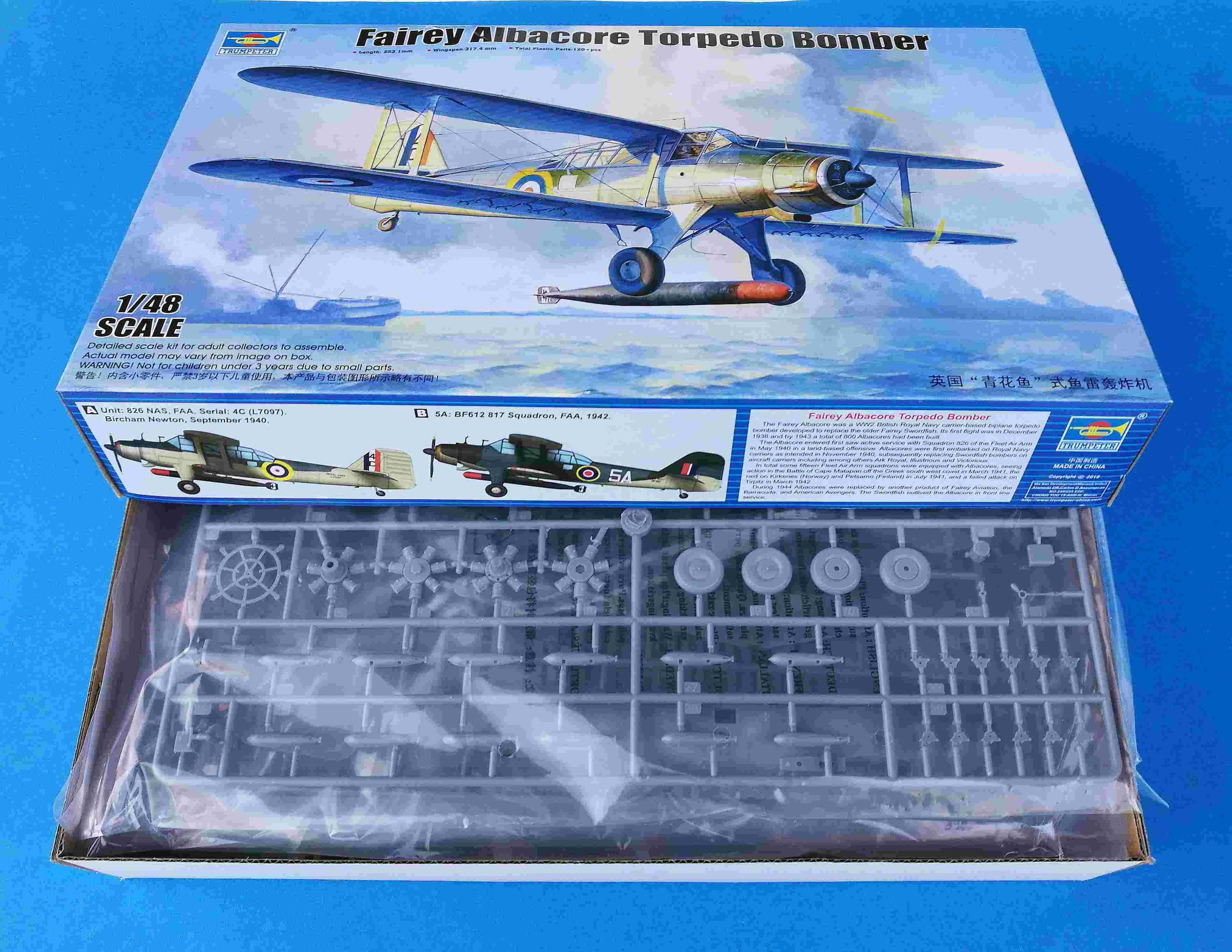 Trumpeter-02880-Fairey-Albacore-Karton-1 Fairey Albacore in 1:48  Trumpeter # 02880