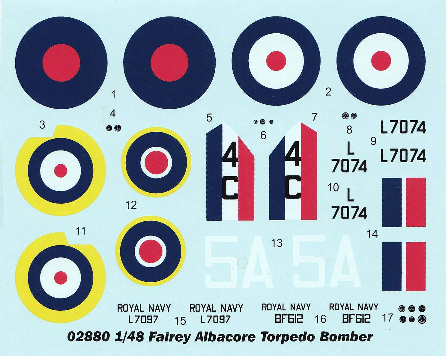Trumpeter-0288o-Fairey-Albacore-Decals Fairey Albacore in 1:48  Trumpeter # 02880