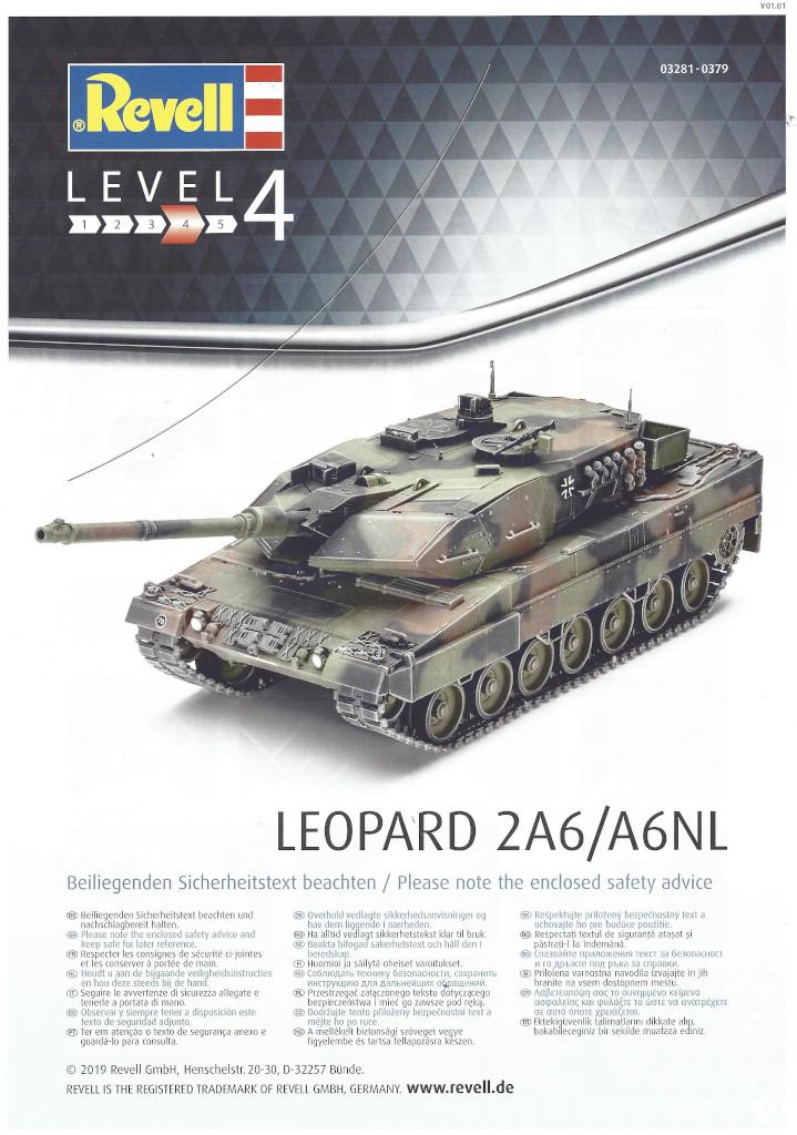 Anleitung01-1 Leopard 2 A6/A6NL 1:35 Revell (#03281)